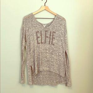 Elfie Knit Shirt Bethany Mota Holidays Silver Gray